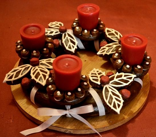 Czech Gingerbread Advent Wreath