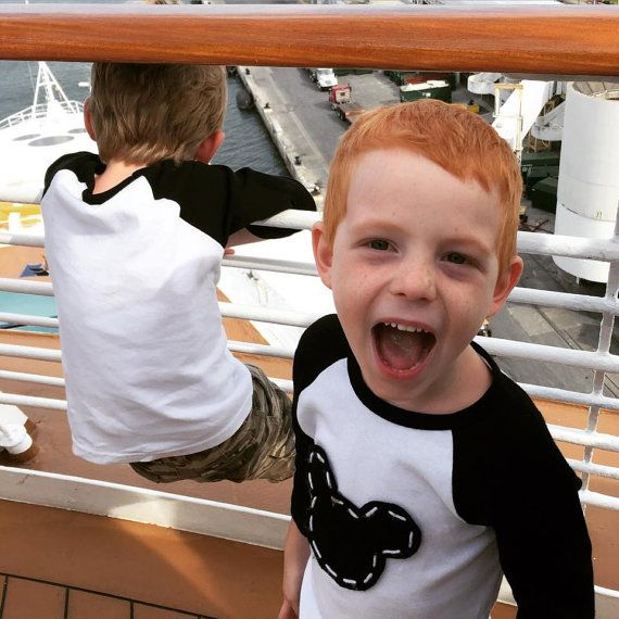 The boys LOVEd their Mickey shirts on our Disney cruise (So did Mommy!)