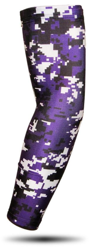 ARM SLEEVE ● Purple Black White Digital Camo