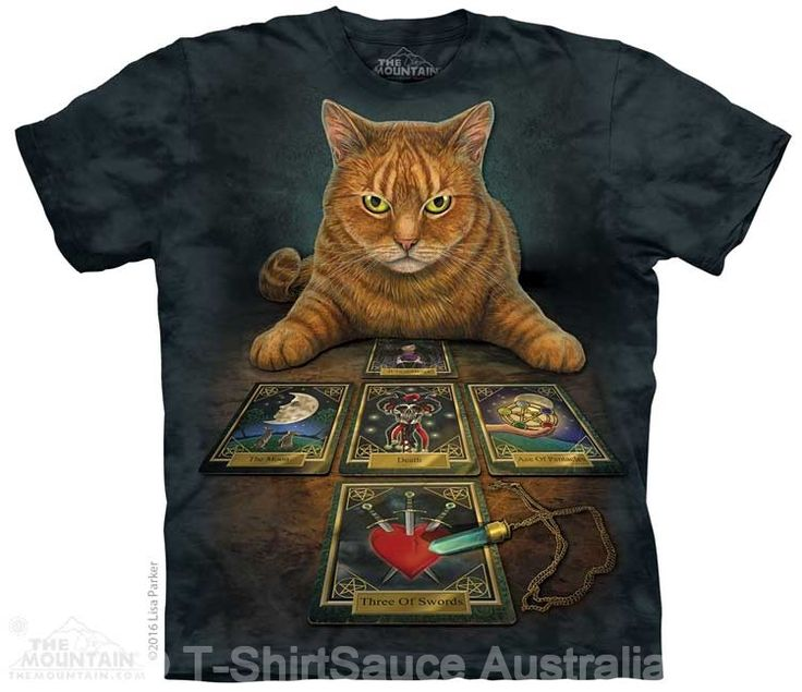 Tarot Reader Adults Cat T-Shirt by Lisa Parker : The Mountain - 2017 Collection : T-Shirtsauce Australia: The Mountain T-Shirts