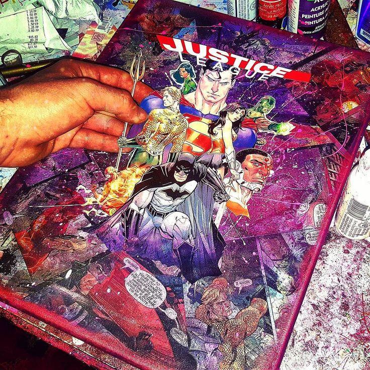 Just three more days     #JusticeLeage Rebirth #1 Written by Bryan Hitch  Penciled by  Tony S Daniel  Inked by Sandy Florer Colored by Tomeu Morey  Lettered - Richard Starkings & ComicCraft    #superman #batman #wonderwoman #aquaman #cyborg #greenlantern #greenlanterns #theflash #unitetheleague #simonbaz #jessicacruz #superheroes #comicartwork #dc #comics #comicart #comicartist #comiccon #art #artlife #modernart #collageart #modernart #popart #decoupage #etsyshop #montreal #squadgoals