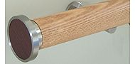 Walcot House 50mm Wood Curtain Pole Natural Oak, Disc Brown