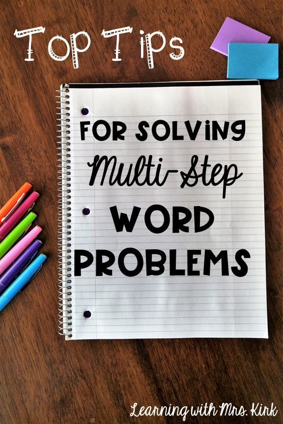 Here is a blog post with GREAT ideas for solving word problems! Help your students be successful with problem solving in math class!