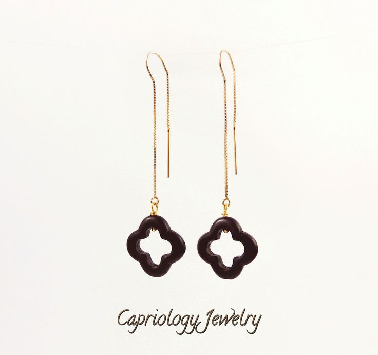 """The """"lucky clover"""" earring fit every person, every outfit and every occasion, so stop wasting time trying to get it all together. You can use that time flaunting it...."""