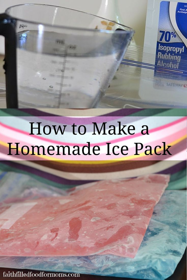 How to Make a Homemade Ice Pack.
