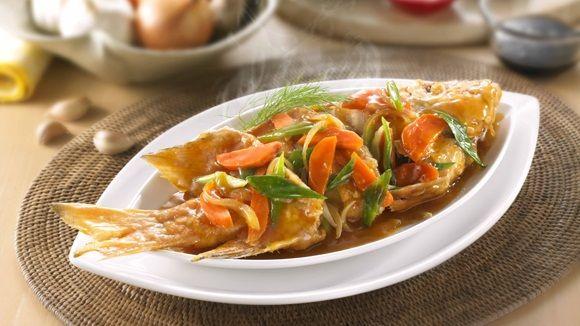 Ikan Kakap Saus Tiram