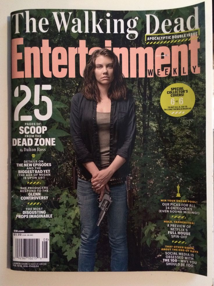 """Entertainment Weekly """"The Walking Dead"""" Issue. Lauren Cohan as Maggie Greene."""