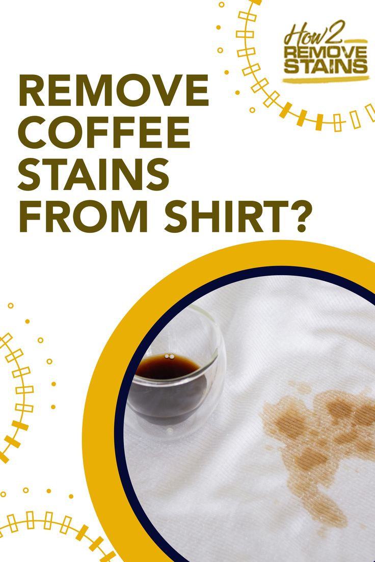 How to remove coffee stains from a shirt in 2020 coffee