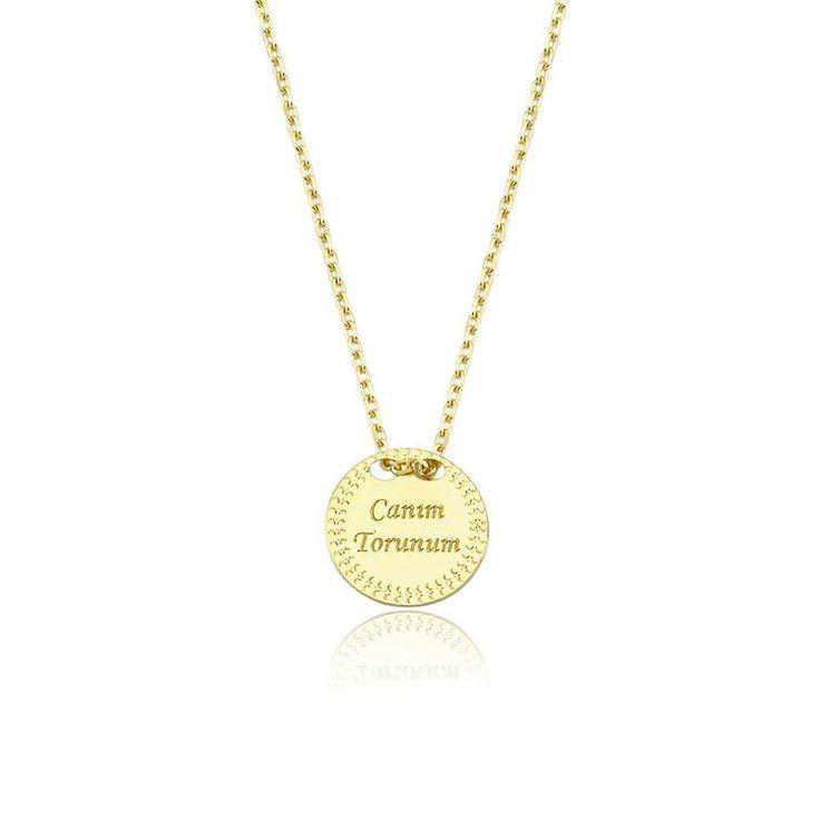 """Altın """"Canım Torunum"""" Kolye #altınbaşlife #kolye #altın #takı #tasarım #hediye #gift"""