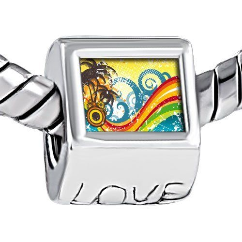Pugster Photo Beads Engraved Love European Fits Pandora Charm Bracelet Pugster. $12.49. Color: Silver. Metal: metal. Size (mm): 7.6*9.1*10.1. Weight (gram): 4.3