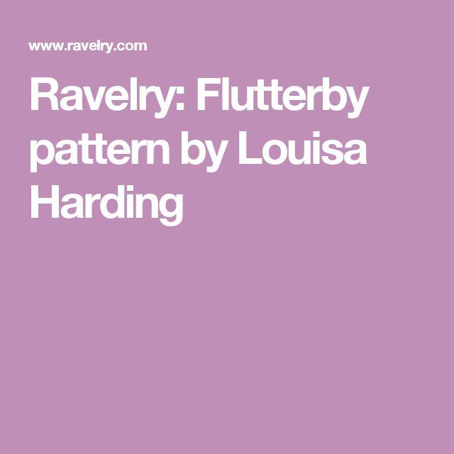 Ravelry: Flutterby pattern by Louisa Harding