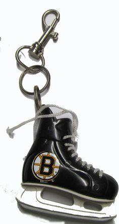 Boston Bruins hockey skate key ring