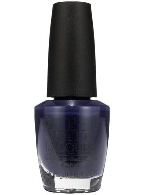 OPI Nail Lacquer in Road House Blues Review: Makeup: allure.com // an inky deep bluish purple color