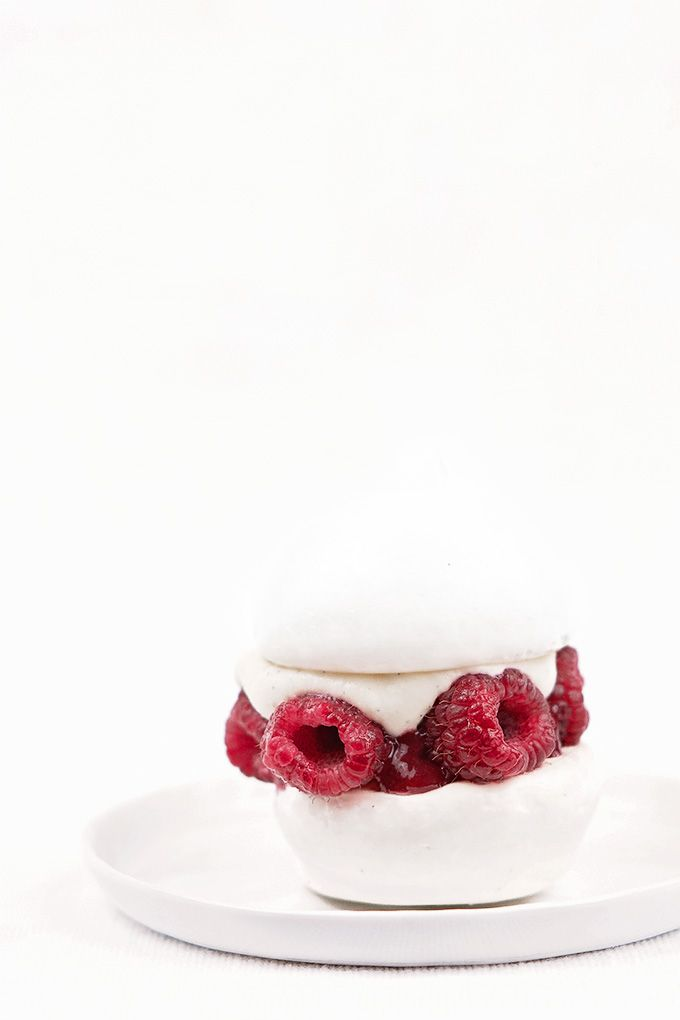 Reverse-engineered version of famous pastry chef Dominique Ansel's raspberry and lychee pavlova