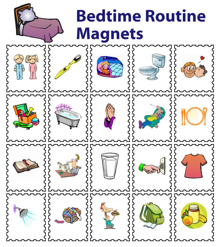 20 Printed Magnets for Kids | Back to School | Bedtime ...