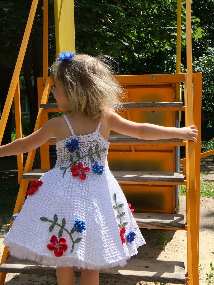 Croche pro Bebe: Vestidos em croche                                                                                                                                                     Más
