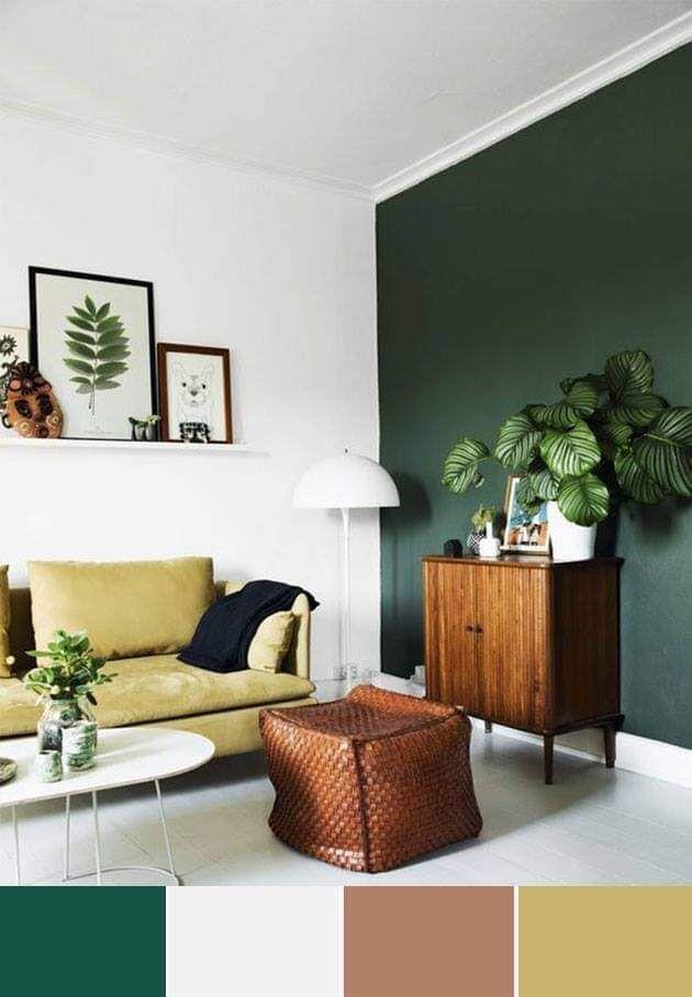 Inspirasi Warna Ruang Tamu Tema Tropis