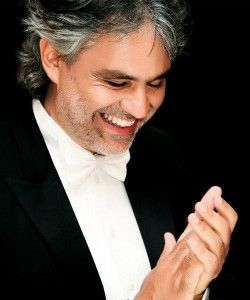 """Andrea Bocelli """"If God had a voice it would sound like his"""". -Celine Dion about Bocelli"""