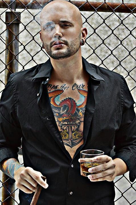 Bald Cigar Scotch Tattoos 02 Pinterest Cigars Of And Shirts