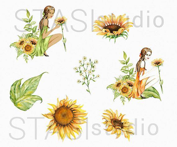 sunflower clipart ideas