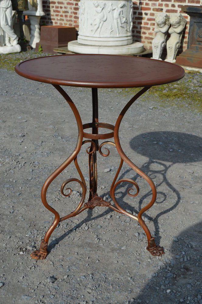 Table De Jardin En Fer Forge Usine St Sauveur Arras Gueridon Tuin