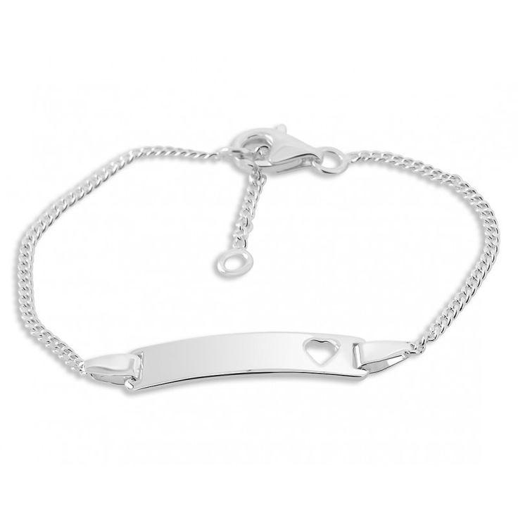 Ein schönes Taufarmband für Babys und Kinder aus 925 Sterling Silber. Das Armband wird mit Ihrem Wunschtext bzw. Wunschnamen graviert. Hierfür stehen Ihnen max. 12 Zeichen inkl. Leerzeichen zur Verfügung. Dieses Armband ist eine wundervolle Geschenkidee zur Taufe für das Baby oder Kleinkind.