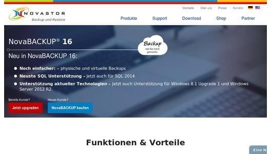 NovaStor lanciert NovaBACKUP 16 mit erweiterten Backup- und Restore-Funktionen für physische und virtuelle Umgebungen. - pressebox.de (15.05.2014)