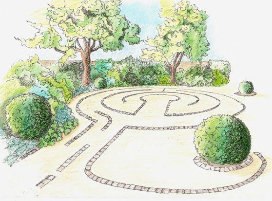 200 best Labyrinths images on Pinterest Labyrinth garden - labyrinth garden design