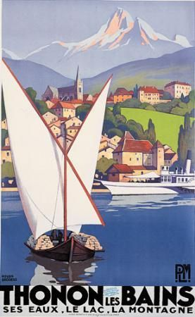 Roger Broders (1883-1953): Thonon les Bains 1929