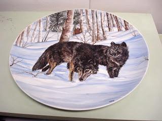 Lupi nella neve