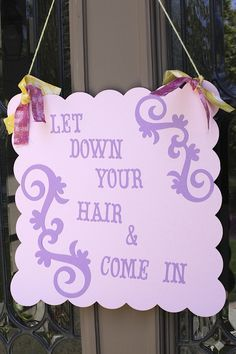 tangled party signs - Google Search