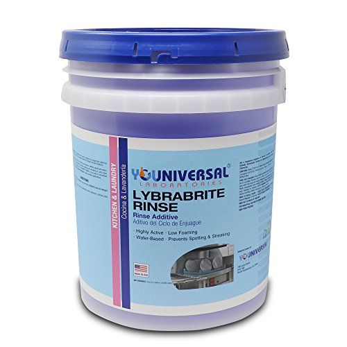 Commercial Dishwasher Rinse Aid & Agent For Industrial Dishwasher Machines 5 Gallon Pail Lybrabrite [Ready-to-Use].