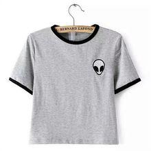 2016 alienígena impresso roupas de verão Camisetas para as mulheres t shirt…