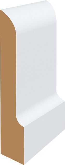 Late Edwardian Architrave Can be used as architrave or skirting and Easy to cut, nail and glue Can be Pre primed, ready to paint