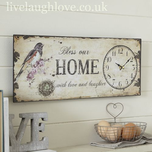 Shabby Chic Kitchen | Shabby Chic, Country Accessories, Vintage Furnishings, Hanging Hearts ...
