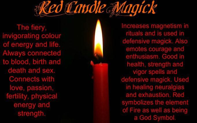Red Candle Magic ✯ Visit lifespiritssocietyofmagick.com for love spells, wealth spells, healing spells, and LOA info.