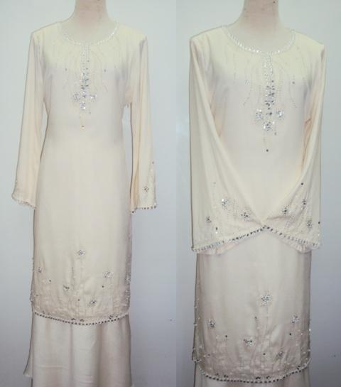 White Beaded Baju Kurung