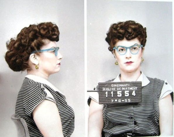 Mugshot Senior Portrait With School And Graduation Date As Inmate - 15 vintage bad girl mugshots from between the 1940s and 1960s