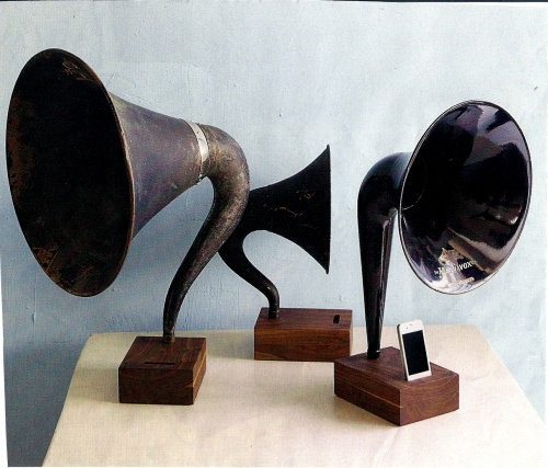 This is a gramophone ipod docking station, what a cool way to play music.