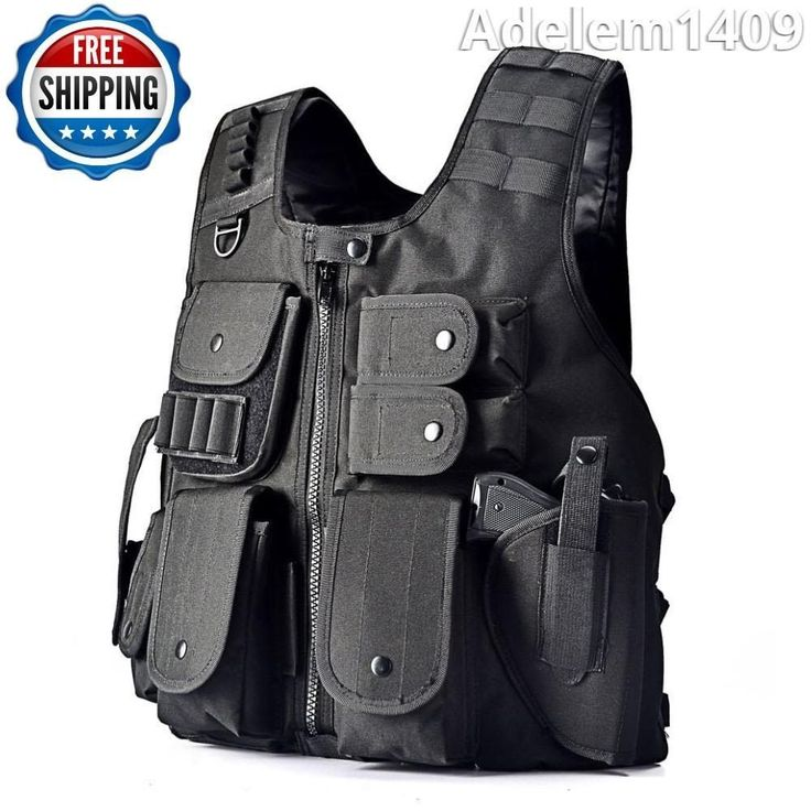 Tactical Army Military SWAT Vest Assault Field Game Outdoor Combat Cosplay Gear #YAKEDA