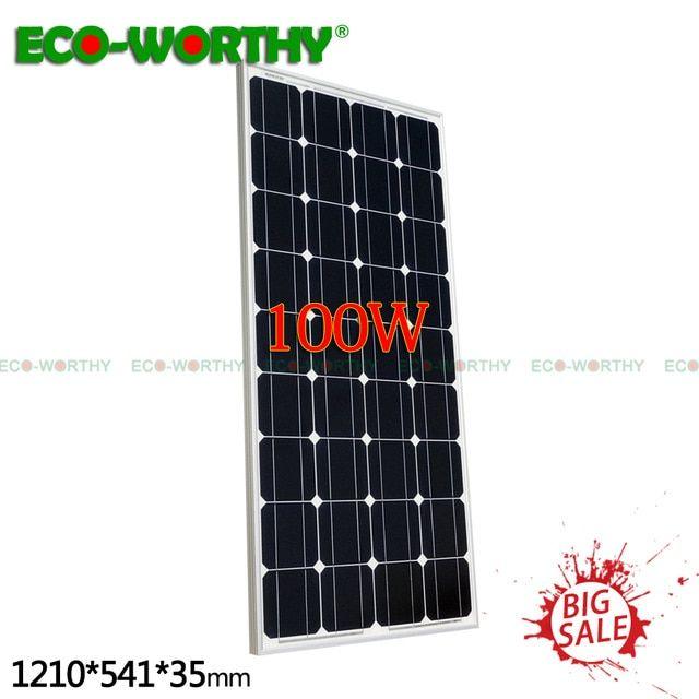 Eu Stock 100w 18v Monocrystalline Solar Power Panel For 12v Battery Charger Home 100w200w400w600w800w1000w Solar Power Panels Review Solar Power Panels Solar Panels For Home Solar Cell