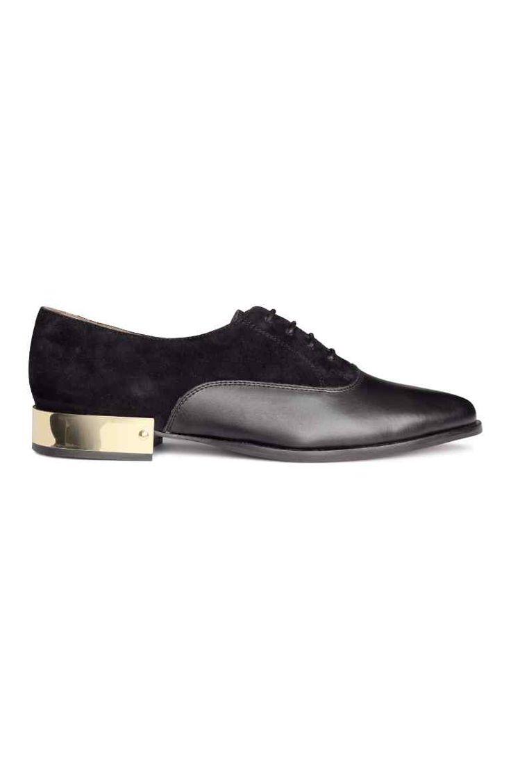 Chaussures en daim et cuir