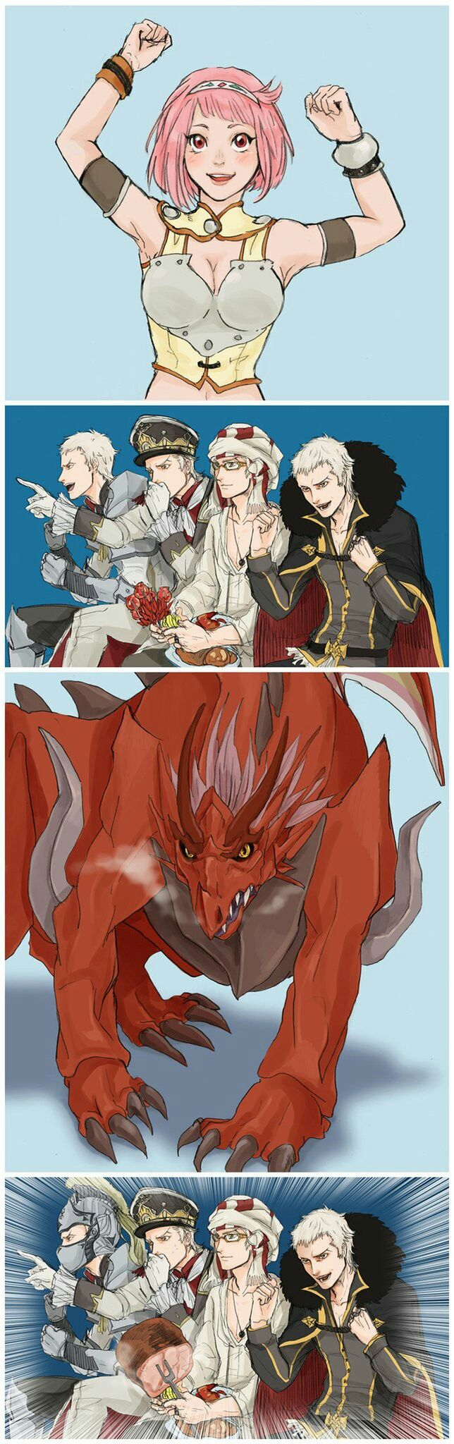 XDDDDD_chris loves nina,human form or dragon form does'nt matter at all.( ´ ▽ ` )