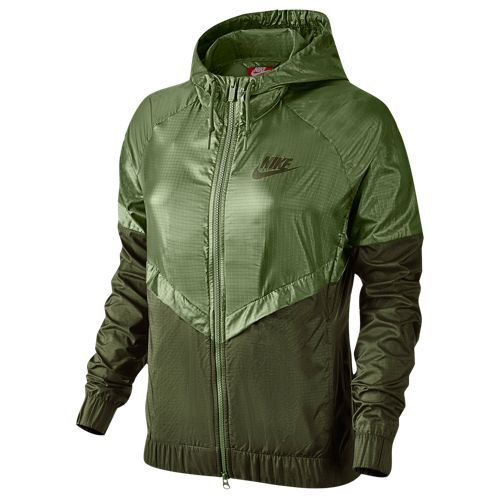 Nike NSW Windrunner Jacket - Women's - Olive Green / Dark Green