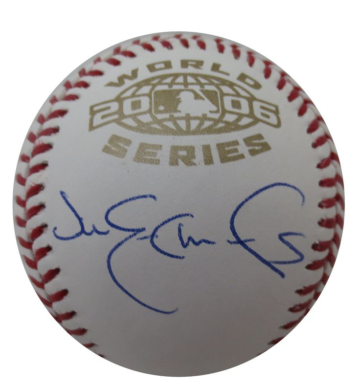 Jim Edmonds Signed 2006 World Series Baseball from Powers Autographs, $149 http://www.powersautographs.com/jim-edmonds-autographed-2006-world-series-signed-baseball-mlb-authenticated-p-100655587.html#.U0MYvFfhEoN