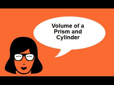 Volume of a Prism and Cylinder-Geometry Help-MooMooMath - YouTube