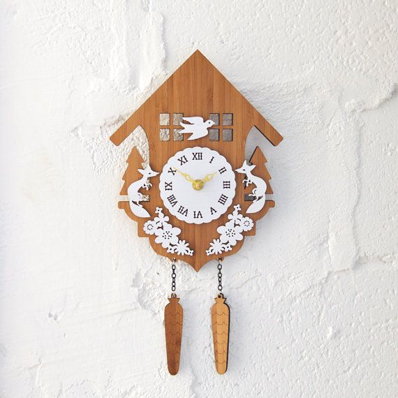 Modern Cuckoo Wall Clock  Style B by decoylab on Etsy, $96.00