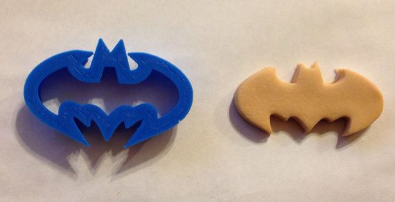 SMALL cupcake topper Batman cookie cutter 2 inch by BoeTech on Etsy, $5.50