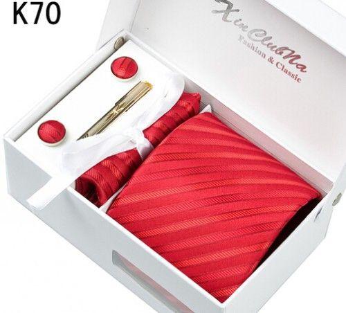 New Design Blue Tie Dots Necktie set Hanky Cuff Links Polyester Classic Dress Neckwear tie w gift box for Men Formal
