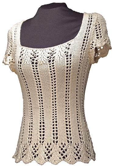 The Krista Tee knitting pattern $8.00  www.whiteliesdesigns.com